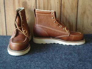 """SALE! - Factory Seconds Thorogood 6"""" Moc Toe Wedge Boots - 814-4200 - Size 6.5 D"""