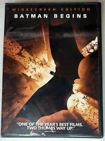 Batman Begins (DVD, 2005, Widescreen) Christian Bale BRAND NEW & SEALED!!