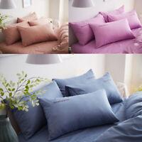 Hot Queen/Standard Silk Satin Pillow Case Bedding Pillowcase Bedding  Home Goods