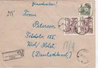 Johannesburg Pisz Polen Ostpreußen R-Brief 1953 Stempel Nachgebühr R-Stempel