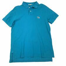 Burberry Brit Men's Teal Blue Short Sleeve Distressed Polo Golf Shirt Sz L