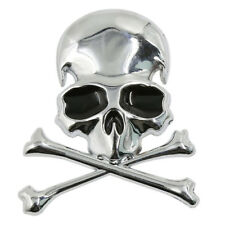 Metal 3d Wicked Skull Bone Shape motorcycle car emblem badge sticker U1R8