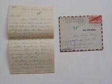 WWII Letter 1945 Trial Dealing German Paris France San Francisco California WW2