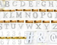 NEW 10cm Wooden Letter Words MDF Wooden White Letters&Alphabet Craft Home Decor