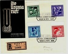 1936 Austria Cover Registered with 4 Semi-Postal Stamps - Scarce on Cover