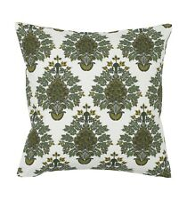 NEU H/&M Kissenhülle Bezug 50 x 50 cm grün oliv khaki weiß Vogel Kranich 100/% BW