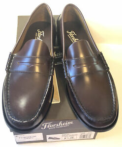 Florsheim Men's Berkley Penny Loafer Burgundy Leather Size 8.5 3E Fast Shipping!