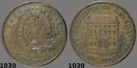 1842 Bank of Montreal Half Penny Medium trees - Key date -