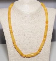 Einzigartig Natur Bernstein Kette Poliert Gelb Bernsteinkette 波羅的海琥珀 Halskette