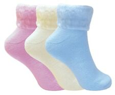3 Pack Ladies Thick Warm Cute Fluffy Fleece Cosy Ankle Thermal Lounge Bed Socks