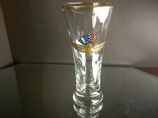Rare Indianapolis Motor Speedway NASCAR INDY Large Shot Glass Very Nice