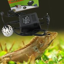 Reptile Fogger Rain Forest Humidifier Mist Fog Maker Kit With 12 Colorful LED,x