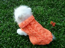 "S handmade knit dog sweater 11""x 7"""