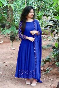 Indian Embroider Work Kurta Kurti Bollywood Pakistani Women Long Tunic Top RN