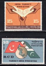 PAKISTAN 1965 RCD SET OF 2 SCOTT 217-218 MNH