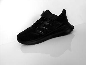 ADIDAS RUNFALCON Sneaker Kinderschuhe Klettverschluss black schwarz Gr.30,5