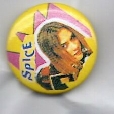 POSH SPICE / VICTORIA BECKHAM RARE PIN BADGE SPICE GIRLS 90s GIRL POP BAND