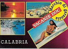 CALABRIA PIN UP Sexy Nude Beach Girl Topless PC Circa 1980 Viaggiata 2