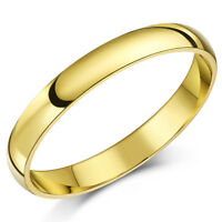 9ct Yellow Gold Court Shaped Wedding Ring Band (Solid & Hallmarked)