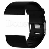 Silicone Replacement Band Wrist Strap Bracelet + Tool Sport For Fitbit Surge L/S