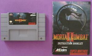 Mortal Kombat II (Super Nintendo, 1994) with Instruction Booklet