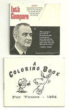 1964 LBJ Lyndon B Johnson Goldwater Presedential Election Quote Wheel Color Book