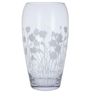 Dartington Flower Vase Bloom Bouquet Dianthus 30cm Handmade Ornamental Glass