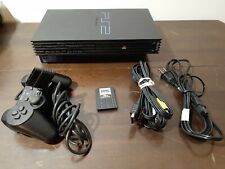 Sony PlayStation 2 PS2 Fat Console SCPH-50001 Cables One Controller Memory Card