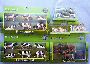 Kids Globe Farm Animals Kühe Kälber Pferde Neu und original Verpackt
