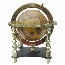 Standglobus Modell, Globus auf anlaufgeschütztem massivem Messingstand