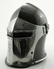 Medieval Visored Barbuta Helmet Crusader Knight Viking Helmet Battle Armour Helm