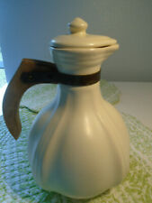 Padre Pottery Vintage Coffee Server with Lid & Wooden Handle/ California Pottery