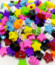 3 For 2 50x OPAQUE STAR MIX 13mm PONY BEADS