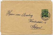 PALESTINE GERMAN P.O 1903 STATIONERY WRAPPER JAFFA to POSEN