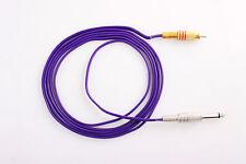 Tattoo RCA Clip Cord for Tattoo Machine Flexible 1.8M purple
