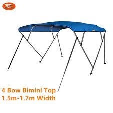 Jetocean 4 Bow 1.5-1.7m Boat Bimini Top Cover Blue Canopy 2.4m Length