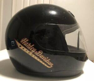 1999 Harley Davidson Helmet Black Orange Full Face Helmet sh