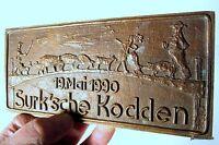 altes schweres Wandbild Bronze Surk`sche Kodden dekorative Künstlerarbeit