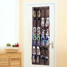 Door Hanging Organizer 24 Pocket Shoe Space Storage Rack Bag Closet Holder