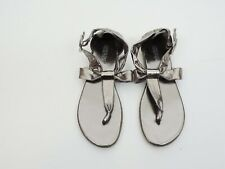 Girls Kenneth Cole Reaction Silver Sandals Size 4