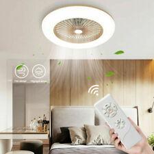 Modern LED 36W Ceiling Fan Light Lighting Adjustable Wind Speed Dimmable IR 220V