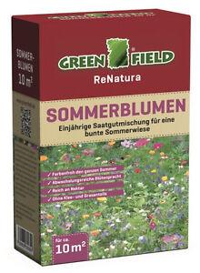 Greenfield Sommerblumen Saatgutmischung für 10 m² Samen