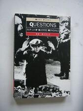 GUERRE 39 45  QUESTIONS SUR LA IIeme GUERRE MONDIALE   TBE