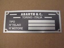 Fiat 500 D F L R 126 600 850 1200 1500 124 Abarth Zagato Tag Microcar