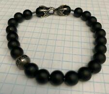David Yurman Spiritual Bead Bracelet With Black Diamonds and Black Onyx