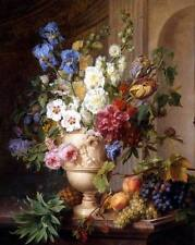 Oil painting Gerard Spaendonck - Flowers and Desire fruits Pineapple HAND PAINT
