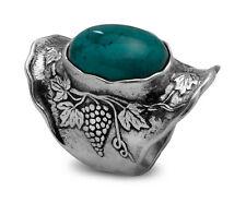 R01369TU SHABLOOL ISRAEL Didae Turquoise Sterling Silver 925 Ring Sz. 6 7 8 9