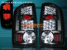 02-06 DODGE RAM 1500/2500/3500 TAIL LIGHTS REAR LAMPS JDM BLACK LED 03 04 05