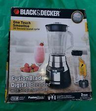 BLACK DECKER BL1820SG-P FusionBlade Chrome Blender 6 Cup Glass Jar 2 IN 1