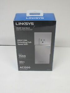 Linksys - Velop Plug-In AC1300 Dual-Band Wi-Fi Mesh Extender ~ BRAND NEW SEALED